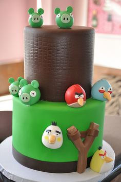 fondant, birthday parties, bird cake, little birds, sons