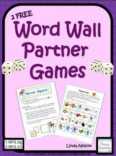 FREE two partner games to use with your Word Wall.