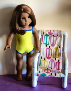 "Sewing for American Girl Dolls: ""Pictorial"" to make a PVC Chair for your favorite 18"" doll"