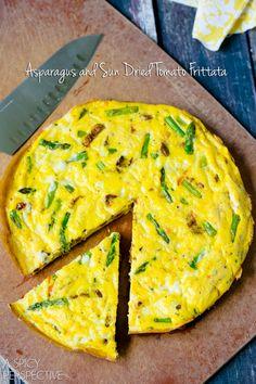 Frittata Recipe with Fontina, Asparagus and Sun Dried Tomatoes #italian #breakfast #frittata