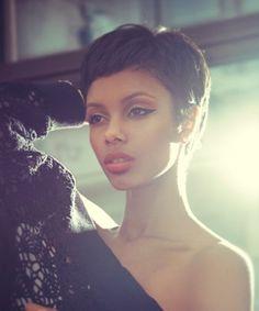 Short Hairstyles for Black Women -  short mushroom