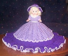 ANNALISA free crochet bed doll pattern for 13 inch doll