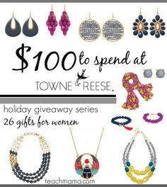 jewelry giveaway from towne and reese cover #giftstowin