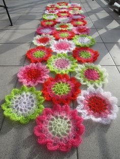 Awesome colours!!!  Crocheted scarf