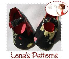 Easy Sewing Pattern for Baby Ballerina Shoes  with Elastic Strap  - DIY  - Newborn to 24 Months