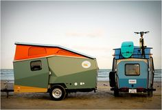 Campers architects, campers, trailers, mobile homes, popup trailer, outdoor, road, travel, cricket trailer