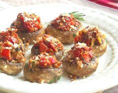 recip appet, mushroom tapa, stuf mushroom, mushroom recipes, food, stuffed mushrooms, spanish tapas, snack, vegan appetizers