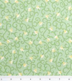 Keepsake Calico Fabric-Nature's Garden Light Green: keepsake calico fabric: quilting fabric & kits: fabric: Shop | Joann.com