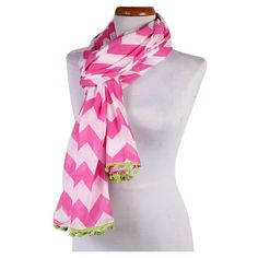 Chevron Scarf in Pink.
