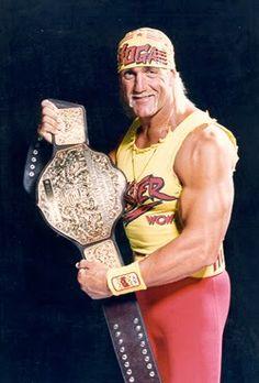 WCW World Champion Hulk Hogan ! Yeah hulk hogan one of the best of all time the leg drop and Hulkamania the training vitamins and prayers ! one of the best champions of all  from Phillip from Galt