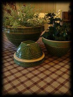 Vintage Green Mixing Bowls
