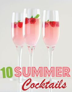 10 Delicious Summer Cocktails - Pretty My Party #summer #cocktail #recipes #drinks