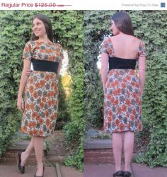 50s Hourglass Fitted Floral Bombshell Dress