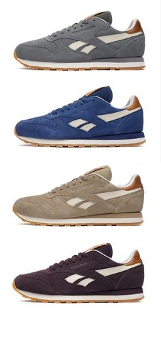 reebok classic leather retro suede italy carbon blue & white