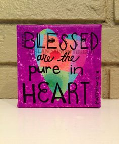 Blessed scripture original canvas mixed by girlandapaintbrush, $15.00