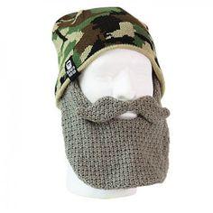 Duck Dynasty Beardhead Camo Hat with Crochet Beard - Grey