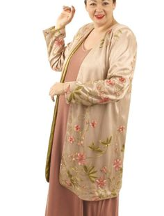 Mother of Bride Coat French Embroidered Peach Pink Beige Custom Made Sizes 14 -32  SHOP NOW: Unique jackets for women Sizes 14 - 36, mother of the bride, special occasion, artwear, elegant and unique women's clothing,xoPeg #plussizesale #PeggyLutzPlus #PlusSize #style #plussizestyle #plussizeclothing #plussizefashion #womenstyle #womanstyle #womanfashion#fallstyle #fallfashion #fallformal #eveningwear #longcoats #style #couture #elegantwoman #elegantplus #uniquejackets #divastyle