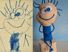 Children's drawings as toys