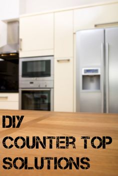 DIY Counter Top Solutions