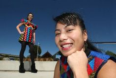 Fashion designer Adrienne Whitewood is inspired both by her culture and by growing up in Rotorua. Image from the Rotorua Daily Post
