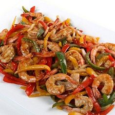 We're making a Gulf Shrimp and Sweet Pepper Stir Fry with Honey-Citrus Glaze. Click here for the recipe!