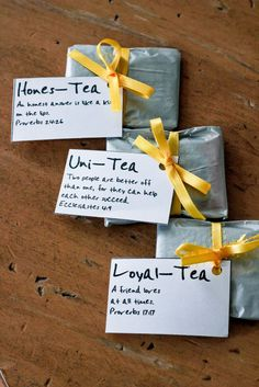 This tea favor is so cute but I think I could make it look prettier!