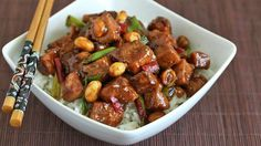 Make this popular Chinese take out dish at home with chicken and a flavorful, spicy sauce.
