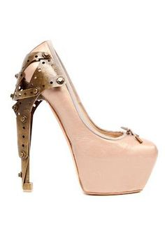 metal, heel, ballerina pump, shoe