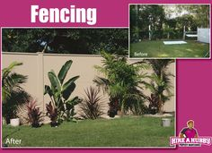 Our Hubbies do amazing work both inside and out! How about this great outdoor transformation with the help of a little fencing