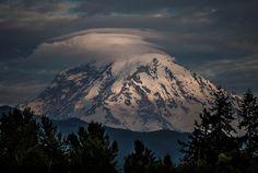 Mt. Rainier & Sun