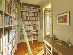 books, librari room, library rooms, librariesbook room, home libraries, hallways, dream hous, small spaces, small homes