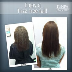 Eliminate up to 99% of curl and frizz with Kenra Smooth® and enjoy a frizz-free fall!  Work by stylist Julia Whitaker.