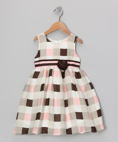 Take a look at this Bonny Billy Pink & Black Checkerboard Dress - Toddler & Girls by Bonny Billy on #zulily today!