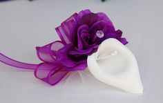 Rose Calla Lily Corsage Wedding Bridal Prom Quinceanera Party