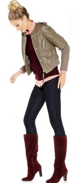 Fall wishlist : burgundy boots