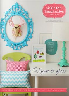 Tickle The Imagination magazine may/2013 #craft #design #DIY #handmade #quarterly #free