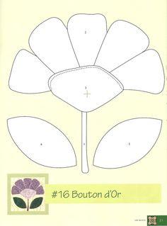 Flores para aplicação quilt block, craft idea, projeto para, para experimentar, appliqué templat