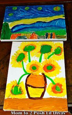 exploring Vincent Van Gogh lil diva, explor vincent, artist lesson, school, kids, divas, vincent van gogh, art techniqu, famous artist