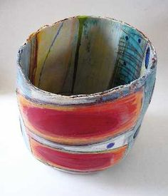 linda style, turquoise, buckets, style ceram, 3d art, ceramics, flowers, pot, artist inspir