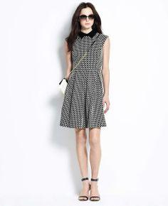 Knit Jacquard Pleat Dress