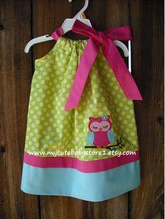 Bright Owl Girl Pillowcase Dress. $28.00, via Etsy.