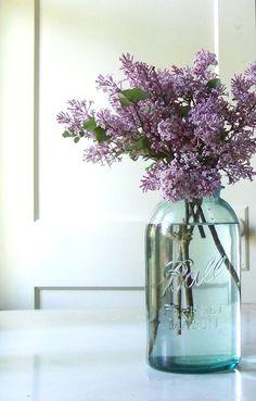 Mason jars & lavender