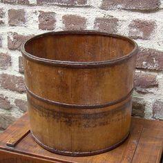 Antique Wooden Grain Bucket
