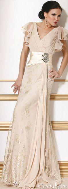 JOVANI - Lacy Opal Gown