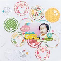 Birthday Girl - Scrapbook.com - Made with Jillibean Soup supplies.