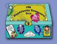 CTR ACTIVITY BOX: Primary CTR-A, Lesson 1, CTR Testimony Treasures Box to store lesson handouts for CTR-A class, Primary 2 manual, primary l...