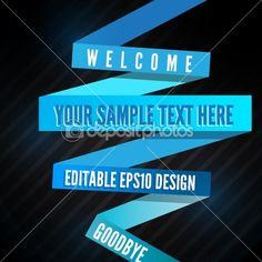 Editable Retro Blue Line | Stock Vector © Thomas Gerencsér #9740543