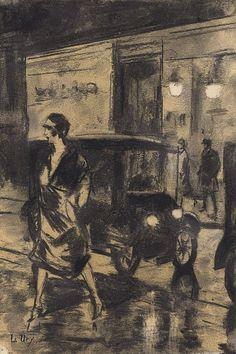 Berlin Street Scene, Lesser Ury. Germany (1861 - 1931)