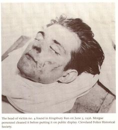 Head of the 4th victim of the Cleveland Torso Murderer