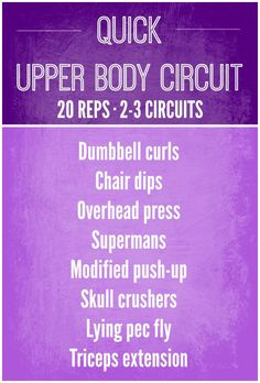 Feel the upper-body burn with Erin's 15-minute upper-body circuit workout! #exercise